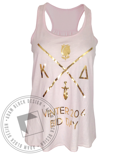 Kappa Delta Bid Day Tank-Adam Block Design