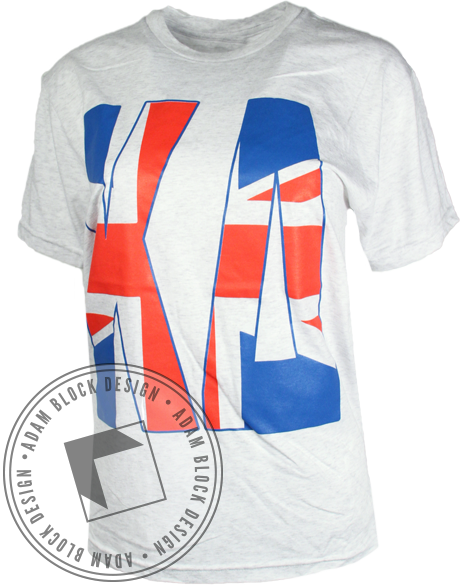 Kappa Delta British Tee-Adam Block Design