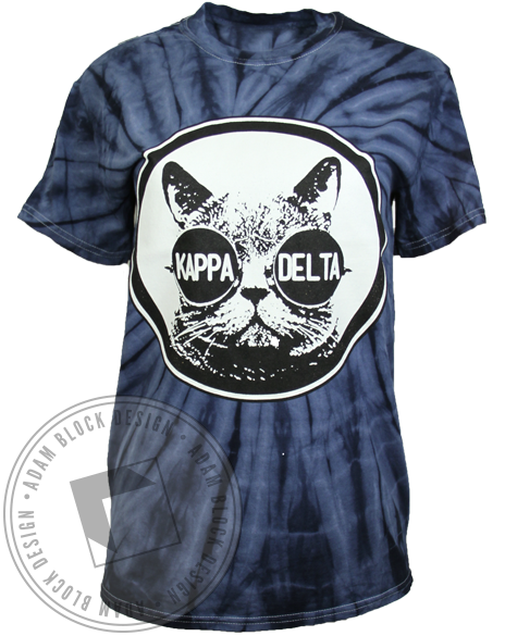 Kappa Delta Cat Tie Dye Shirt-gallery-Adam Block Design