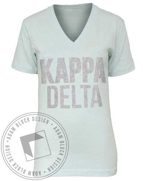 Kappa Delta Darling It's Better V-neck-Adam Block Design
