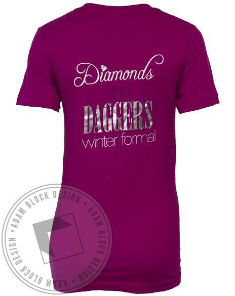 Kappa Delta Diamonds & Daggers Winter Formal-Adam Block Design