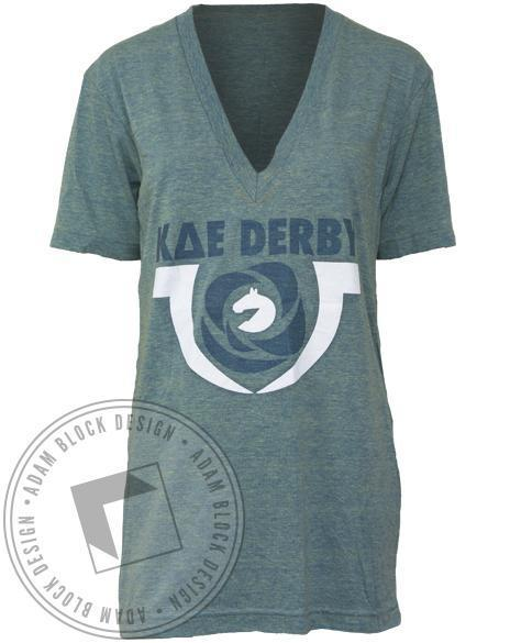 Kappa Delta Epsilon Derby V-Neck-gallery-Adam Block Design