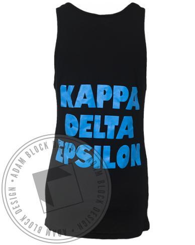 Kappa Delta Epsilon Word Collage Tank-gallery-Adam Block Design
