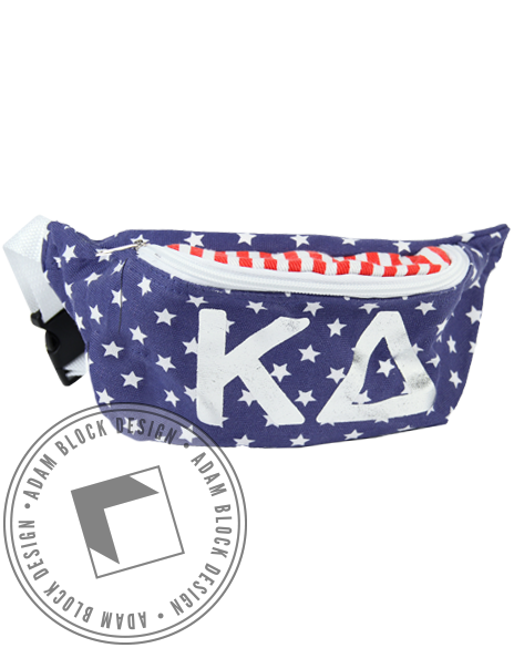 Kappa Delta Flag Fannypack-gallery-Adam Block Design