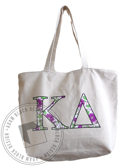 Kappa Delta Flowers Tote-gallery-Adam Block Design