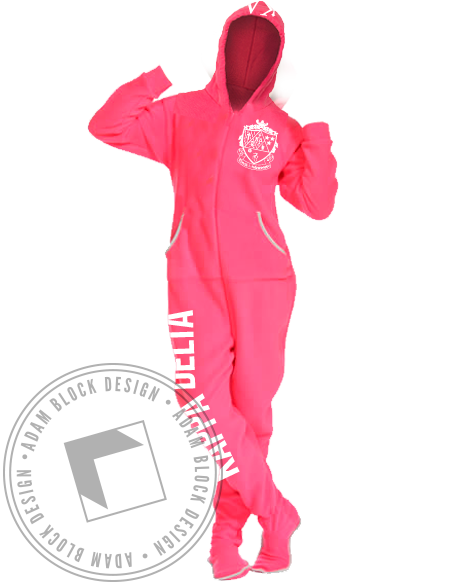 Kappa Delta Footy Pajamas-Adam Block Design