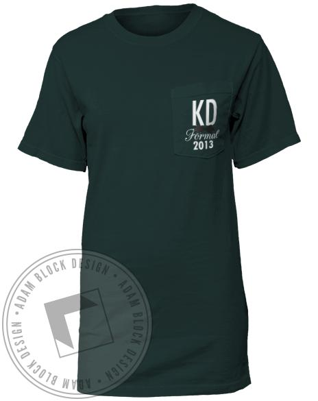 Kappa Delta Formal Pocket Tee-Adam Block Design