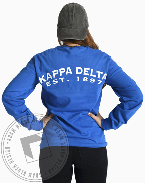 Kappa Delta Homecoming Longsleeve Tee-Adam Block Design