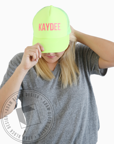 Kappa Delta KayDee Neon Trucker Hat-gallery-Adam Block Design