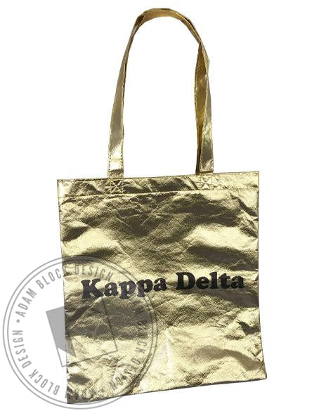 Kappa Delta Metallic Gold Tote-Adam Block Design