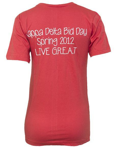 Kappa Delta Nautilus Live Great V-neck-Adam Block Design