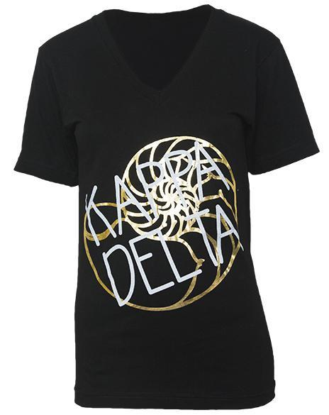 Kappa Delta Nautilus Lucky To Be Kaydee V-neck-Adam Block Design