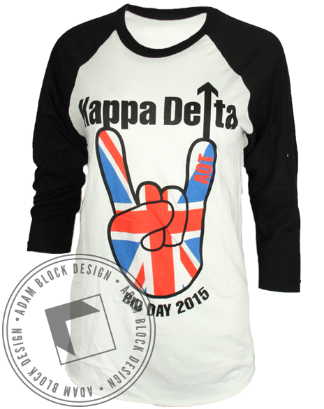 Kappa Delta Rock Baseball Tee-Adam Block Design