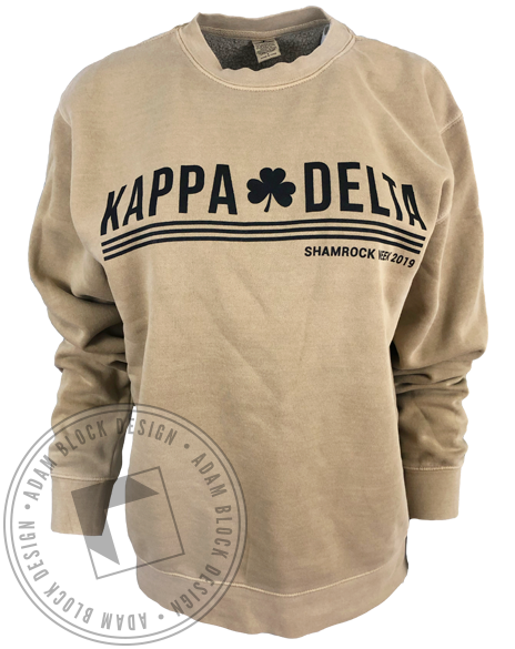 Kappa Delta Shamrock Week Sweatshirt-Adam Block Design