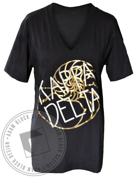 Kappa Delta Shell V-Neck-Adam Block Design