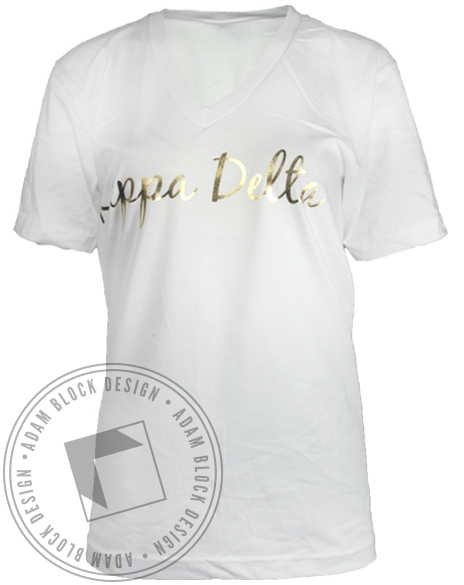 Kappa Delta Shell Vneck-Adam Block Design