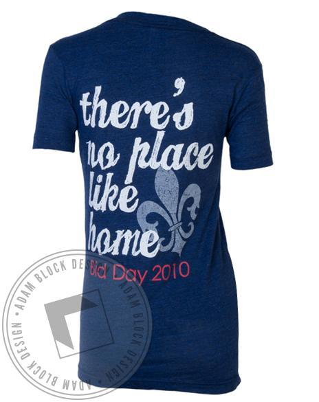 Kappa Kappa Gamma Bid Day Blue V-Neck-Adam Block Design