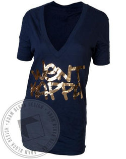 Kappa Kappa Gamma Bid Day Went Kappa V-Neck-Adam Block Design