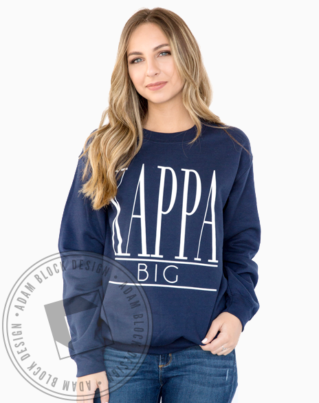 Kappa Kappa Gamma Big Sweatshirt-Adam Block Design