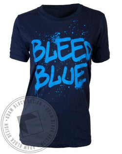 Kappa Kappa Gamma Bleed Blue Tee-gallery-Adam Block Design