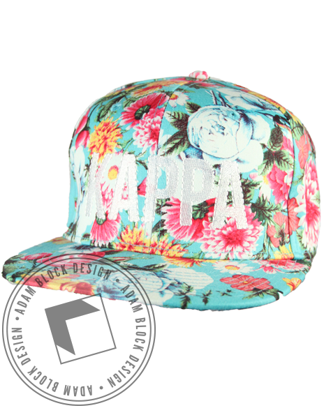 Kappa Kappa Gamma Blue Floral Hat-gallery-Adam Block Design