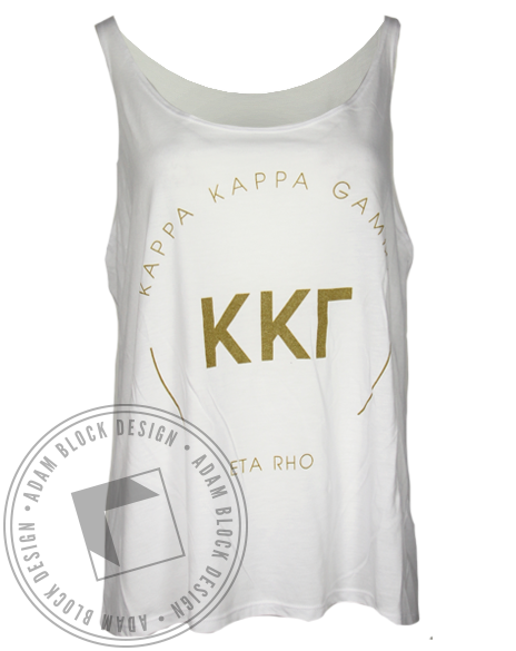 Kappa Kappa Gamma Circle Tank Top-Adam Block Design