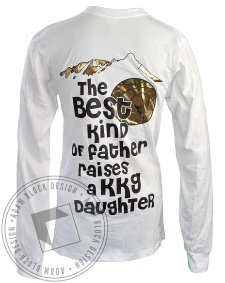 Kappa Kappa Gamma Dad's Weekend Longsleeve Tee-Adam Block Design