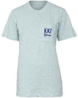 Kappa Kappa Gamma Fleur Pocket Tee-Adam Block Design