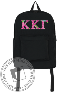 Kappa Kappa Gamma Floral Backpack-Adam Block Design