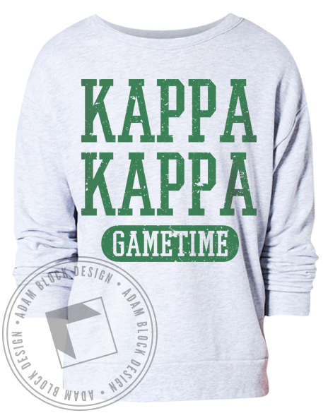 Kappa Kappa Gamma Game Time Crewneck-Adam Block Design