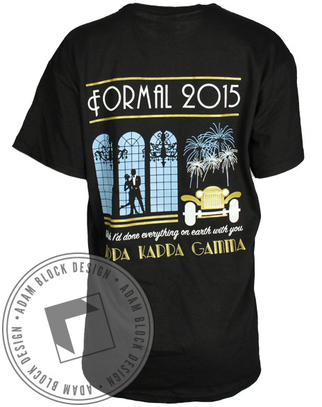 Kappa Kappa Gamma Gatsby Formal Tee-Adam Block Design