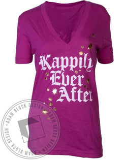 Kappa Kappa Gamma Kappily Ever After V-Neck-Adam Block Design