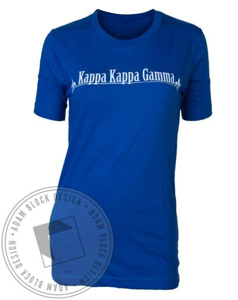 Kappa Kappa Gamma Key Blue Tee-Adam Block Design