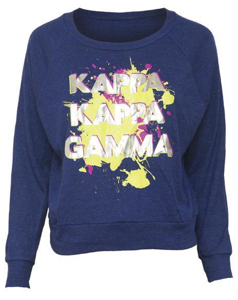 Kappa Kappa Gamma Know It Raglan-Adam Block Design