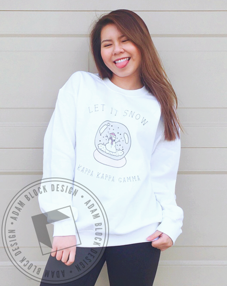 Kappa Kappa Gamma Let It Snow Sweatshirt-Adam Block Design