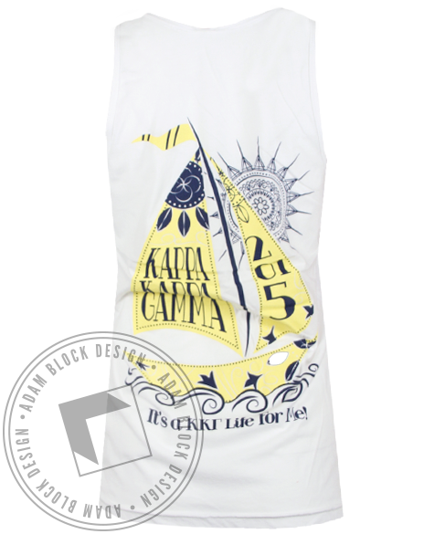Kappa Kappa Gamma Life For Me Tank Top-gallery-Adam Block Design