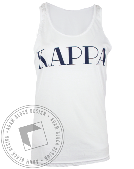 Kappa Kappa Gamma Life For Me Tank Top-Adam Block Design
