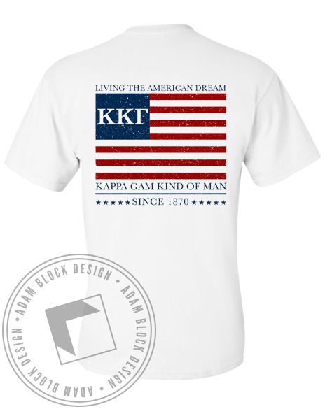 Kappa Kappa Gamma Living The Dream Pocket Tee-Adam Block Design