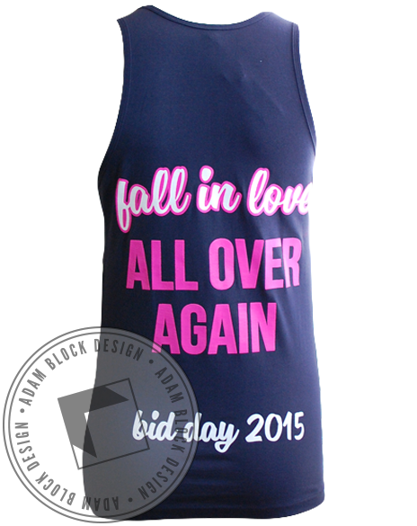 Kappa Kappa Gamma Love Bid Day Tank-Adam Block Design