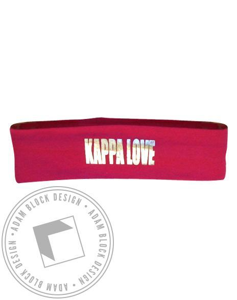Kappa Kappa Gamma Love Headband-gallery-Adam Block Design