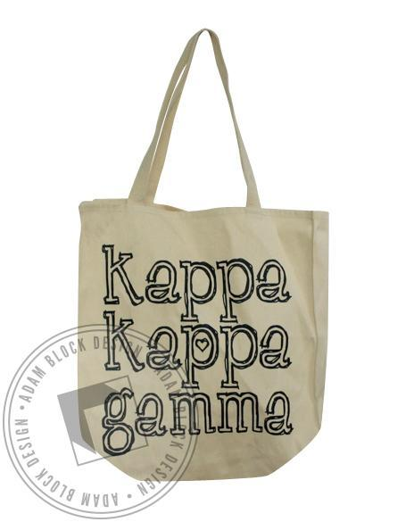 Kappa Kappa Gamma Outline Tote-gallery-Adam Block Design