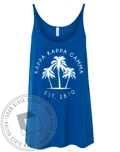 Kappa Kappa Gamma Palm Tree Tank-Adam Block Design