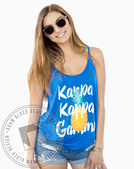 Kappa Kappa Gamma Pineapple Tank-Adam Block Design