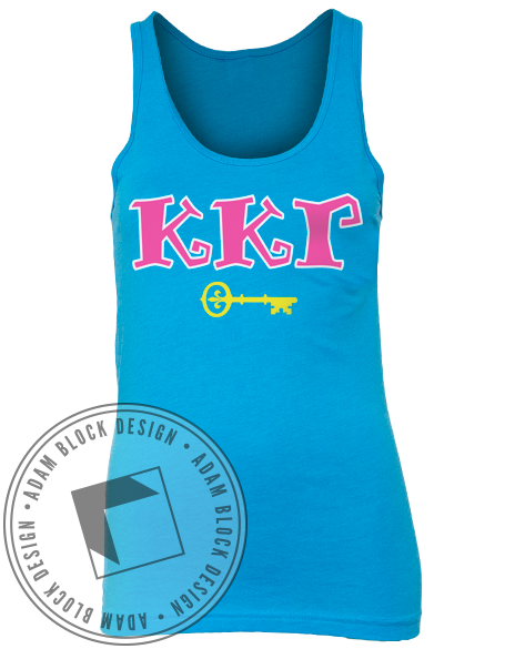 Kappa Kappa Gamma Throw Tank-Adam Block Design