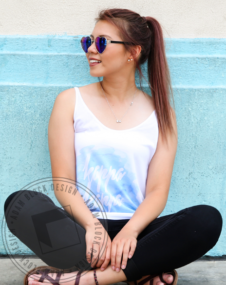 Kappa Kappa Gamma Watercolor Tank-Adam Block Design