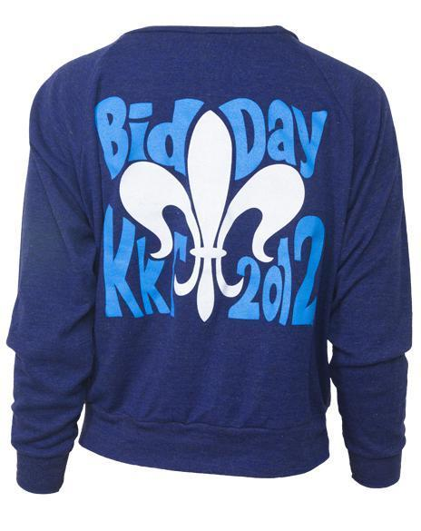 Kappa Kappa Gamma Went Bid Day Raglan-Adam Block Design