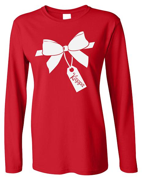 Kappa Kappa Gamma Winter Formal Present Longsleeve-Adam Block Design