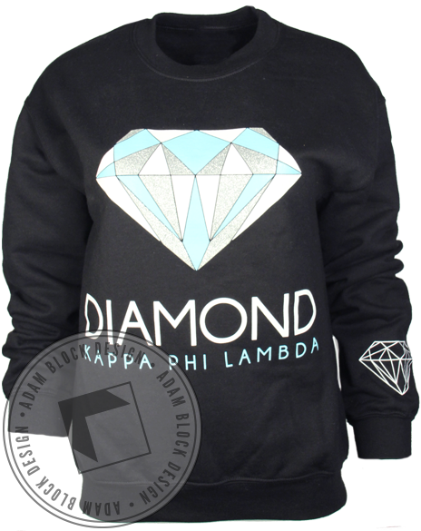 Kappa Phi Lambda Diamond Long Sleeve Crewneck-gallery-Adam Block Design