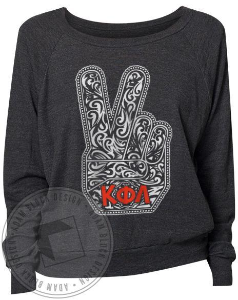 Kappa Phi Lambda Hamsa Raglan Long Sleeve-gallery-Adam Block Design
