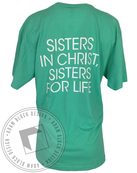 Kappa Phi Sisters For Life Vneck-gallery-Adam Block Design
